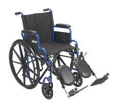 Drive Medical Blue Streak Wheelchair w/Flip Back Desk Arms & Elevating Leg Rests