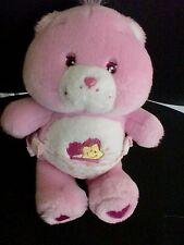 Doudou peluche BISOUNOURS bébé rose coeur étoile CARE BEARS 26cm