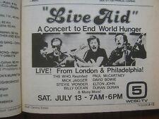 1985  TV Guide (LIVE  AID/THE FALL GUY/KIN SHRINER/HEATHER  THOMAS/ROYA  MEGNOT
