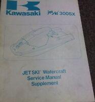 1987 KAWASAKI JET SKI 300SX 300 SX WATERCRAFT Service Shop Repair Manual OEM