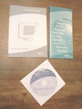 1 CD + 1 Manuale per ACER MONITOR AL1716 Guida Guide