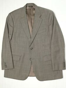 Brooks Brothers Mens Sport Coat 44R Gray Mini Check Wool Cashmere Blend Jacket