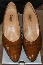 Brand New Gabor Jet Caramel Croc High Heels UK 5.5 RRP£ 65.00