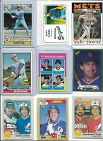 Gary Carter Mets Lot of (9) Different 1975 Topps Mini Rookie #620 HOF EX BV$62