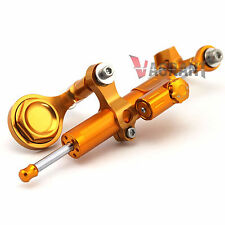 Gold CNC Steering Damper Stabilizer For Yamaha YZF R1 2007-2014