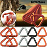 Hiking Keychain Kettle Buckles Triangle Carabiner Snap Clip Water Bottle Hook
