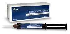 TEMP BOND CLEAR KERR DENTAL CEMENT AUTOMIX SYRINGE 6 GR.