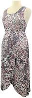 Carole Hochman L Sweet Truffle Printed Sleeveless Maxi Lounge Dress A373466