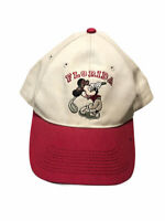 Vintage Disney Mickey Mouse Playing Golf Florida Adult Embroidered Snapback Hat