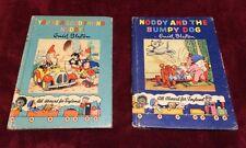 1950s Vintage Lot of 2 Enid Blyton Noddy Books Toyland #14 & #16 Elves Santa