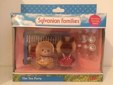 Ultra Rare Vintage sylvainian familias en caja el Tea Party Toy