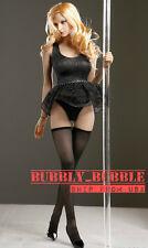 1/6 Pole Dancer Dress Stockings Set For Hot Toys Phicen Female Figure USA