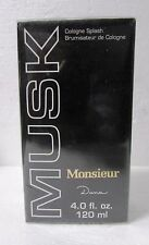 Monsieur Musk By Dana 4oz/125ml Cologne Splash (NIB)