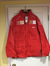 NEW FERRARI WINTER TESTING TEAM JACKET BY FILA  IN THE BAG 2001-2002 SEASONS