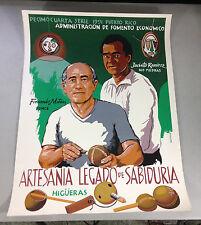 Isaac Novoa ARTESANIA LEGADO DE SABIDURIA Puerto Rico Screenprint Poster 1991