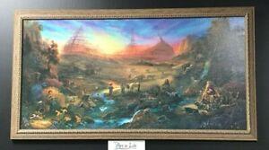 Tom DuBois THE COMMISSION Canvas S/N Framed Noah's Ark Christian Spiritual Art