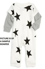 NUNUNU STAR PRINT ROMPER PLAYSUIT 6-12 MONTHS INFANT BOY ROCK STAR LOOK 1 PIECE