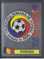 Panini - USA 94 World Cup - # 77 Romania Foil Badge (Black Back)