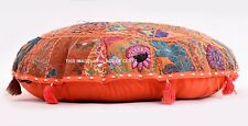 Indian Hippie Cotton Round Cushion Cover Floor Pillow Seating Throw Poufe Decor