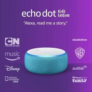 Amazon Echo Dot Kids Edition Blue Smart Speaker with Alexa 3rd Gen NEW SEALED