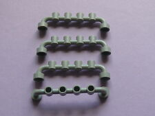Lego 4 barrieres gris clairs set 5561 6338 1687 6442  / 4 old light gray fence