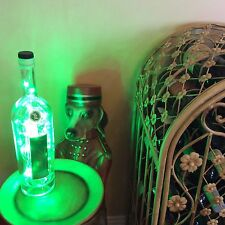 ~ NEW ~ *Bling Lights* ZAYA Rum Empty LIQUOR BOTTLE Electric Lamp Green LEDs