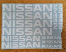 Nissan Logos / Emblems / Stickers / Decals - assorted, 11 total, multiple colors