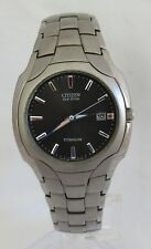 Citizen BM6560-54H Mens Eco Drive Titanium Black Dial Silver Hands 38mm Watch
