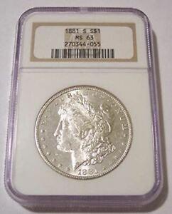 1881 S Morgan Silver Dollar MS63 NGC