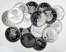 (40) Proof 90% Silver State Quarter $10 Face Roll Bullion Junk Collection