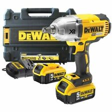 DEWALT MAX XR (DCF899HP2) 18v Cordless Impact Wrench + 2x 5 Ah Batteries + Multi-Voltage Charger