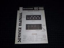 Vtg Original Kenwood Service Manual Model KEC1000 Electronic Crossover