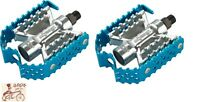 """ODYSSEY TRIPLE TRAP BLUE 9/16""""  BMX BICYCLE PEDALS"""