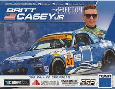 2016 Britt Casey, Jr. Freedom Autosport Mazda MX-5 Miata ST IMSA CTSC postcard