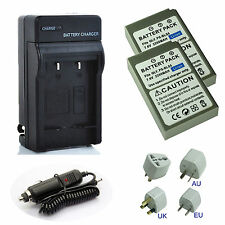 BLS-50 Battery (2-Pack) + Charger For OLYMPUS BCS-5 EM10 MarkII EPL5 EPL7 BLS-5