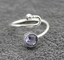 Gemstone Fashion Ring Girls Jewelry Charm Hydro Quartz Silver Plated Adjustable