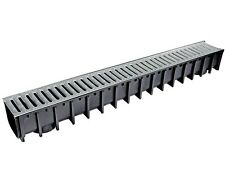 Sabdrain 100x100x1M Drainage Water Plastic Channel Stormwater Driveway Gal Grate