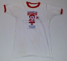 Vintage SEAGRAM'S GIN Red Baron Alcohol White Red Ringer T-Shirt Shirt L Punk