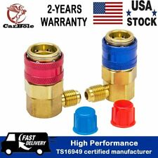 AC R134A Quick Coupler Adapter High Low Auto A/C Manifold Gauge Connector HVAC