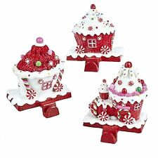 Kurt Adler Peppermint Cupcake Candy Christmas Train Decor Stocking Holder Hanger