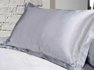 1x Silky Satin Pillowcase Pillow Case Cushion Cover Standard Queen King