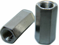 STAINLESS STEEL THREADED ROD HEX COUPLING EXTENSION NUTS 3/8-16 Qty 25