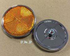 Pair Front Headlight reflector for Honda CB400F CB750F CB750A CB550F CB500T 59mm