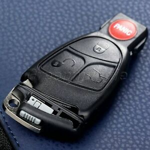 Car 3+1 Buttons Remote Key Shell Case Fob for Mercedes-Benz C230 2004 2005 2006