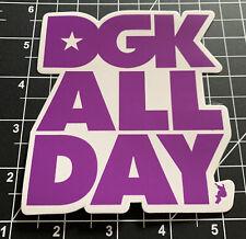 Dgk All Day skateboarding sticker Purple/White