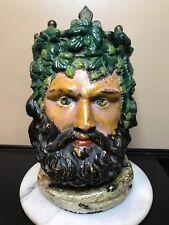 Antique Ceramic Figural Tobacco Jar. European 19Th Century. Amazing Detail!