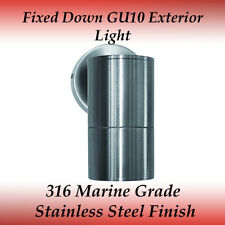 1 Light Fixed Down IP65 External Wall Light in 316 Marine Grade Stainless Steel