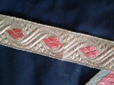 galon metal or rouge, 30mm, couture, costume, scrapbooking, médiéval, gold braid