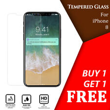 For iPhone 8 Tempered Glass Screen Protector - CRYSTAL CLEAR * Buy 1 Get 1 Free