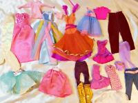 Large Lot of Barbie and Other Mixed Fashion Doll Clothes Bag S-7